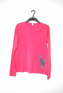 T-shirt femme JOLINESSE rose S 36 38 neuf