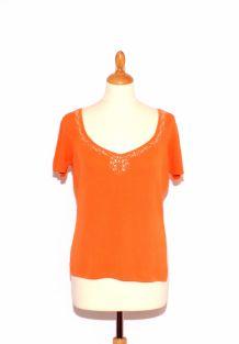 T-shirt top orange 1.2.3 T42/44