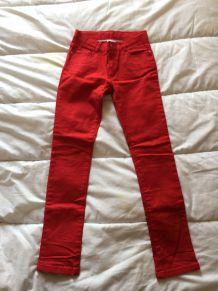 Jean rouge Cyrillus 9-10ans