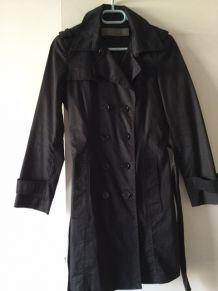 Trench Coat noir Zara - Taille 1.