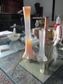2 vases anciens fleurs