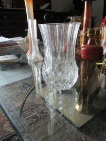 Vase fleurs crystal d'Arques