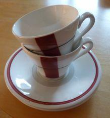 Paire de tasses à café 50's