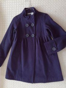 Manteau violet en laine 34