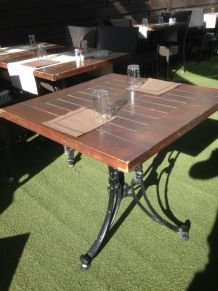 "TABLE ""bistrot""  en TECK 68X68"