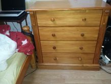 "COMMODE EN PIN "" 4 TIROIRS"""