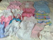 vend lot 20 robes bébé 1967