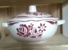 soupière badonvillier porcelaine opaque années 50