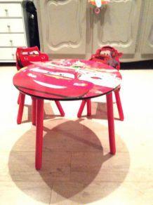 Table et chaises Cars enfant en bois