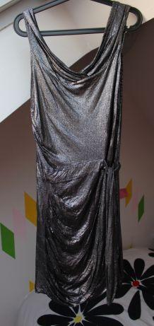 Robe Luc Duchène lamée en bambou