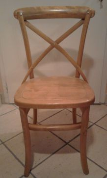 CHAISES BOIS TENTE CLAIRE, STYLE COUNTRY