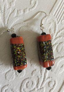 Boucles d'oreilles perles vintage