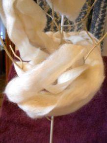 laine cardee naturelle neuf 5,50 M 100 GR COULEUR NATUREL