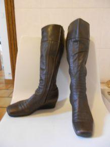 chaussures bottes marron tres fonce 36-36,5 bottes Arche