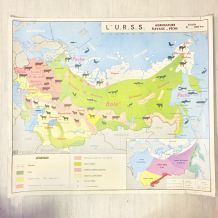 Affiche carte vintage
