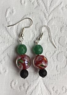 Boucles d'oreilles perle Murano