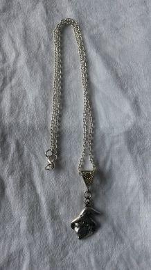 collier breloque fantaisie - argent tibétain