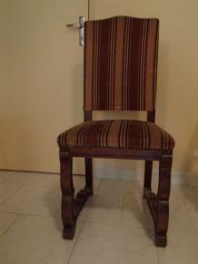 Chaises Bois tapissée style ancien