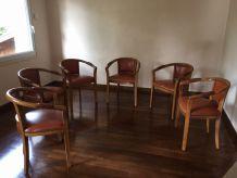6 élégants fauteuils bridge
