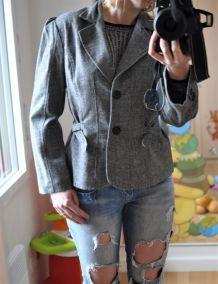 Veste cintrée grise chinée Morgan - Taille 40