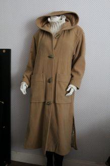 Long kabig duffle coat à capuche dégriffé T 36/38