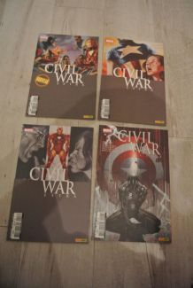 LOT BD CIVIL WAR EXTRA de 1 à 4 (PANINI COMICS) juin à décembre 2007