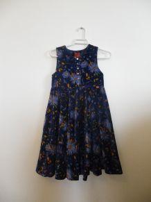 "Robe chasuble velours fleuri ""Kenzo jungle"" 8 ans"