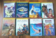 "6 volumes de la ""bibliothèque verte"" - vintage"