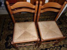 2 Chaises assise tressée