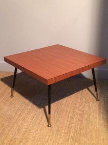 Petite table basse en formica 60's
