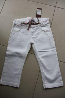 pantalon marese / Oxoo - pantacourt blanc - 6 ans
