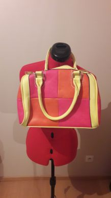 Sac orange rose et jaune