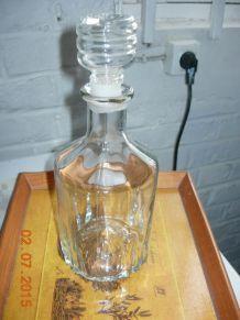 carafe à wisky verre taillé