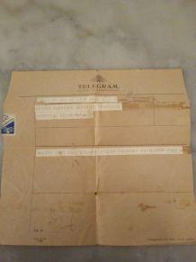 TELEGRAMME DE 1945