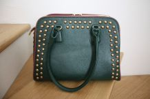 sac à main simili cuir vert