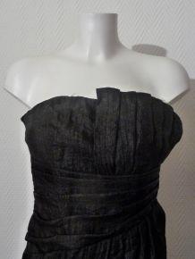 Robe/Tunique Bustier Cintrée Noir - Taille 34- Neuf- H&M