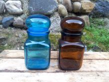 Pots d'apothicaire en verre - Dash & Ariel - vintage  70