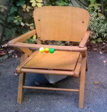 Chaise vintage / petit pot enfant