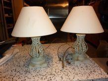 2 lampes métal