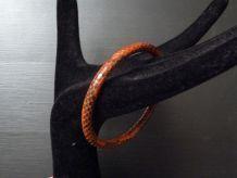 Bracelet en lézard orange- Neuf