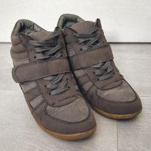 Baskets compensées grises T39