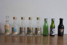 mignonnettes d'alcool, lot de 8