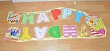 Grande guirlande anniversaire Winnie