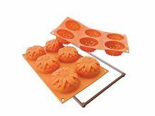 Moule Silicone Orange Pour Réaliser 6 Minis gateaux Tournesols - Fancy & Function
