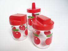 Lot de 3 bocaux à motif pomme - henkel/gulf