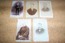 LOT 5 CARTES DE VISITES ANNEES 1890