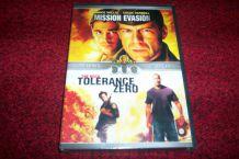 DVD NEUF 2 FILMS MISSION EVASION + TOLERANCE ZERO