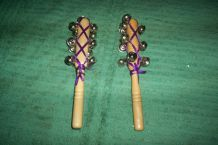 instruments musicaux d'occasion bois et clochettes