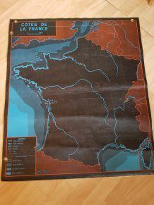 Carte scolaire vintage La Seine