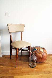 Chaise vintage scandinave pieds compas